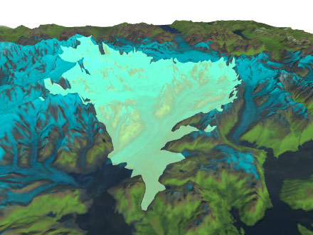 Preview of Columbia Glacier simulation